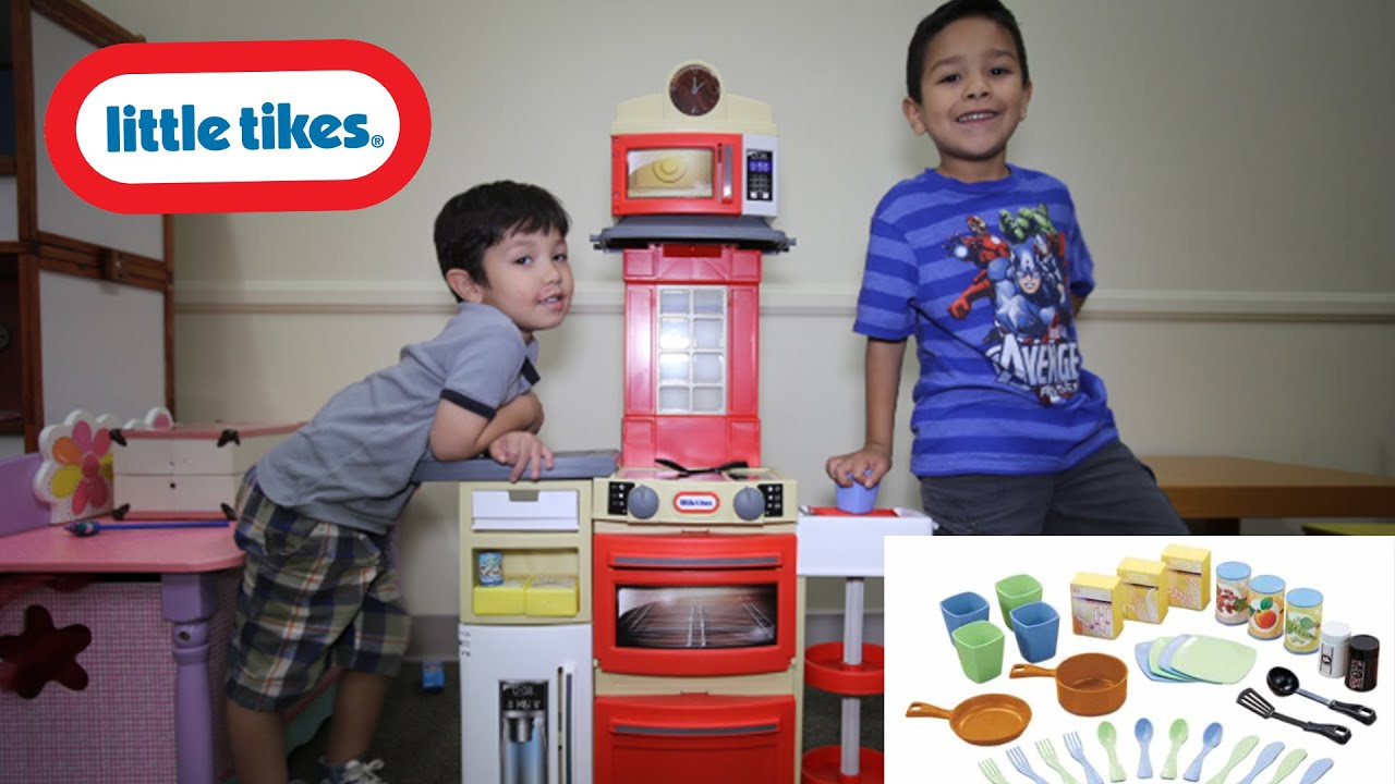 Little Tikes Cook And Store Kitchen Red