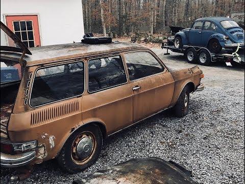 1973 Volkswagen 412- First Start Up In 33 Years! Restoration Ep:1