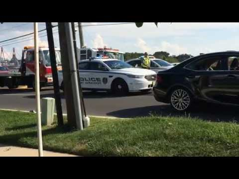 East Windsor : Car on fire after fatal crash on route 571