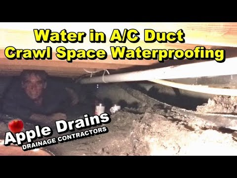 Water in Air Duct, How To, Crawl Space Waterproofing