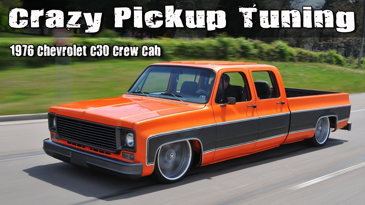 crazy pickup truck tuning 1976 chevrolet c30 crew cab. Black Bedroom Furniture Sets. Home Design Ideas