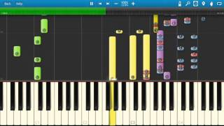 Neil Sedaka - Oh Carol - Piano Tutorial - Synthesia Cover
