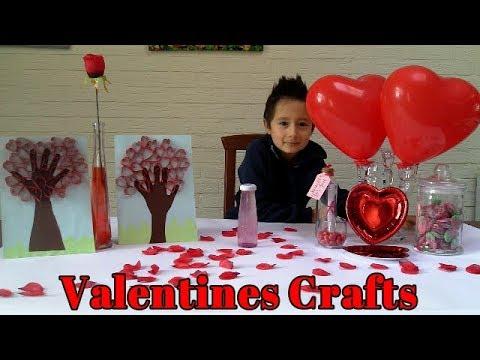Valentines day Crafts/Valentine Handprint Heart tree craft / Valentine Sensory Bottle