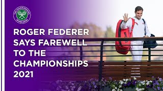 Roger Federer Says Farewell To The Championships
