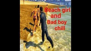GTA 5 - beach girl fight, bad boy funny memes  | 2019 beach trip in Goa