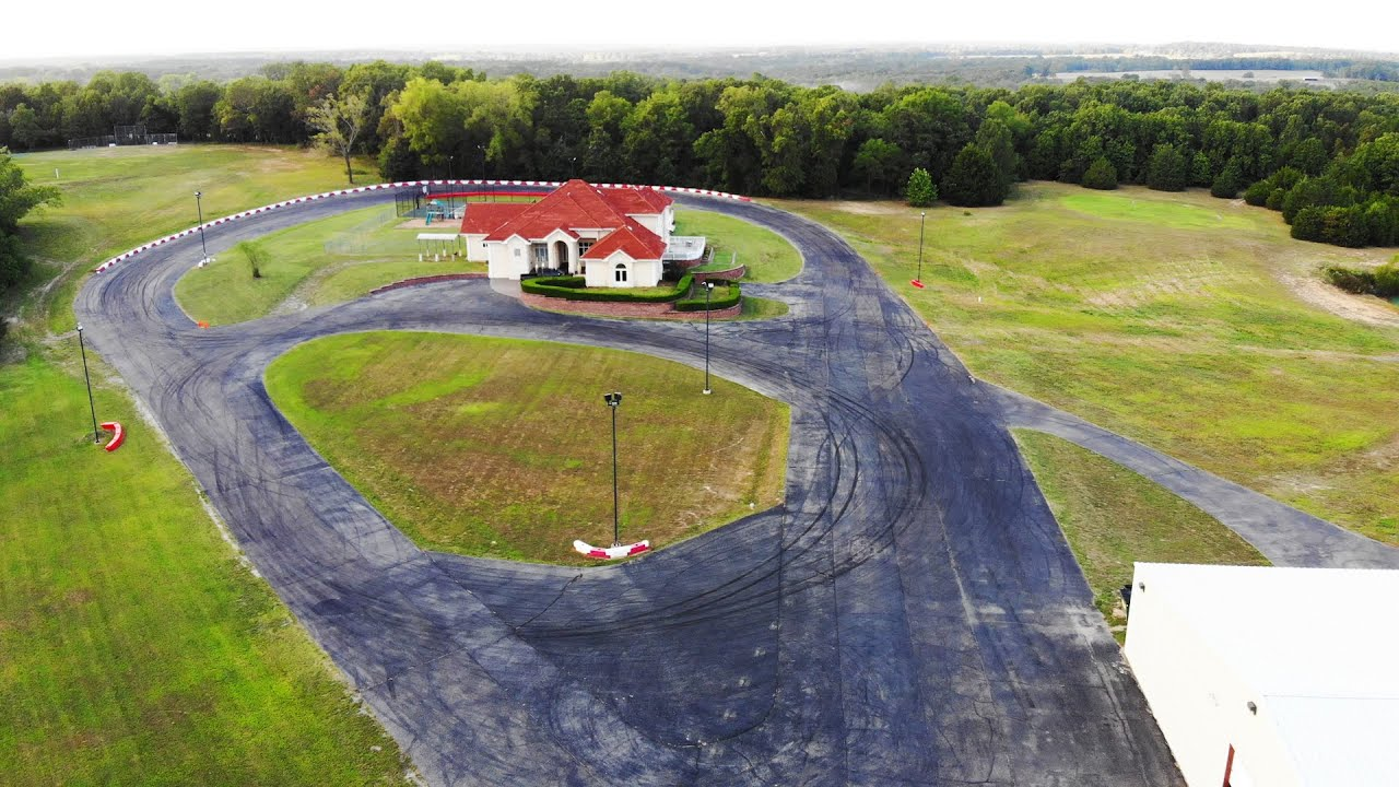 This Air BnB has it's own racetrack.