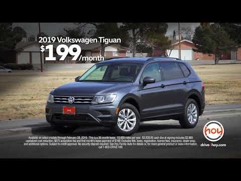 2019 Tiguan $199/mo Lease Special - Expires 2/28 at Hoy Volkswagen E Paso