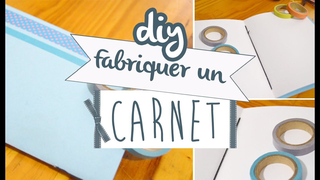 diy d co n 1 fabriquer un carnet youtube. Black Bedroom Furniture Sets. Home Design Ideas