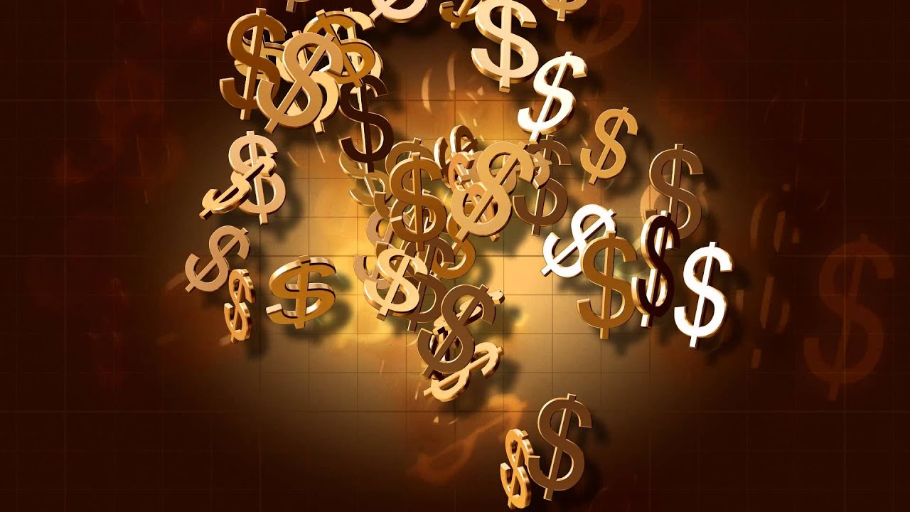 dollar signs animated video background loop youtube