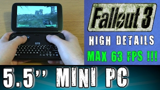 1# GPD Win Fallout 3 (PC) MAX 63FPS Portable Handheld Gaming Mini PC Intel X7 Z8700