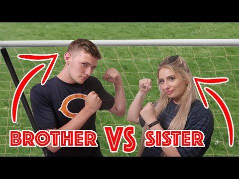 SAFFRON BARKER VS CASEY BARKER!! GARDEN FOOTBALL!!