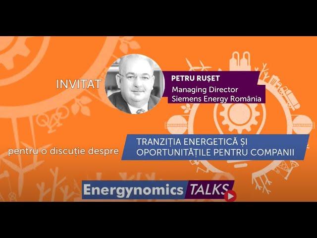 Petru Rușet - Managing Director Siemens Energy România, la Energynomics Talks