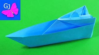 Оригами катер(Современный прогулочный корабль из бумаги — оригами катер. Выполнен из одного бумажного листа., 2014-06-20T16:02:17.000Z)