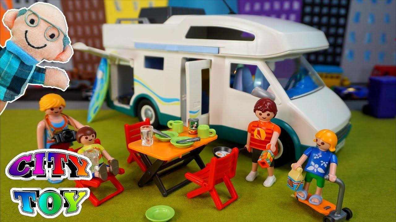 Subimos a la autocaravana playmob l summer fun 6671 youtube for Autocaravana playmobil