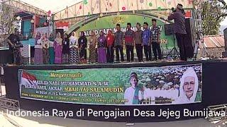 Lagu Indonesia Raya di Pengajian Habib Luthfi bin Yahya, Jejeg Bumijawa 2017