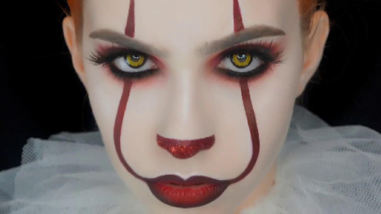 maquillaje payaso chica