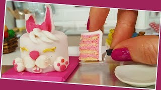 AMAZING!!! 2 mini easter cakes / For diet :) / Miniature cooking / Mini Food / 食べれるミニチュア
