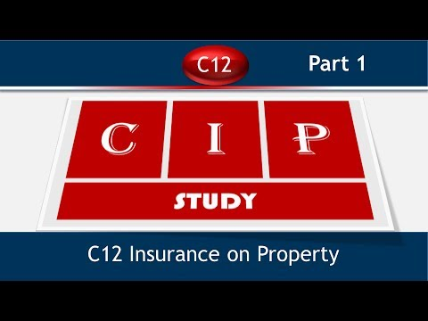 C12 Insurance on Property Terms and Defination