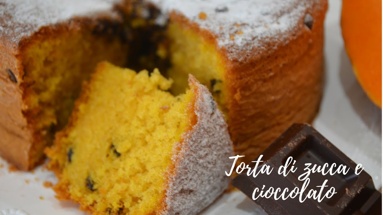 Torta Di Zucca E Cioccolato Youtube
