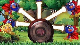 Plants Vs Zombies Adventures: Captain Zombie Vs. Super Repeater and Sunflower | Jan Cartoon