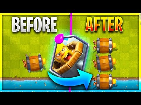 The NEW 'BARBARIAN BARREL' is UNSTOPPABLE in Clash Royale!