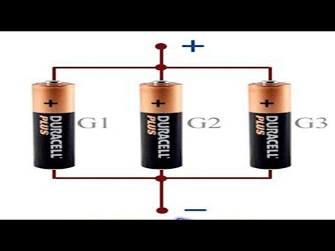 как соеденить батарейки АА ?
