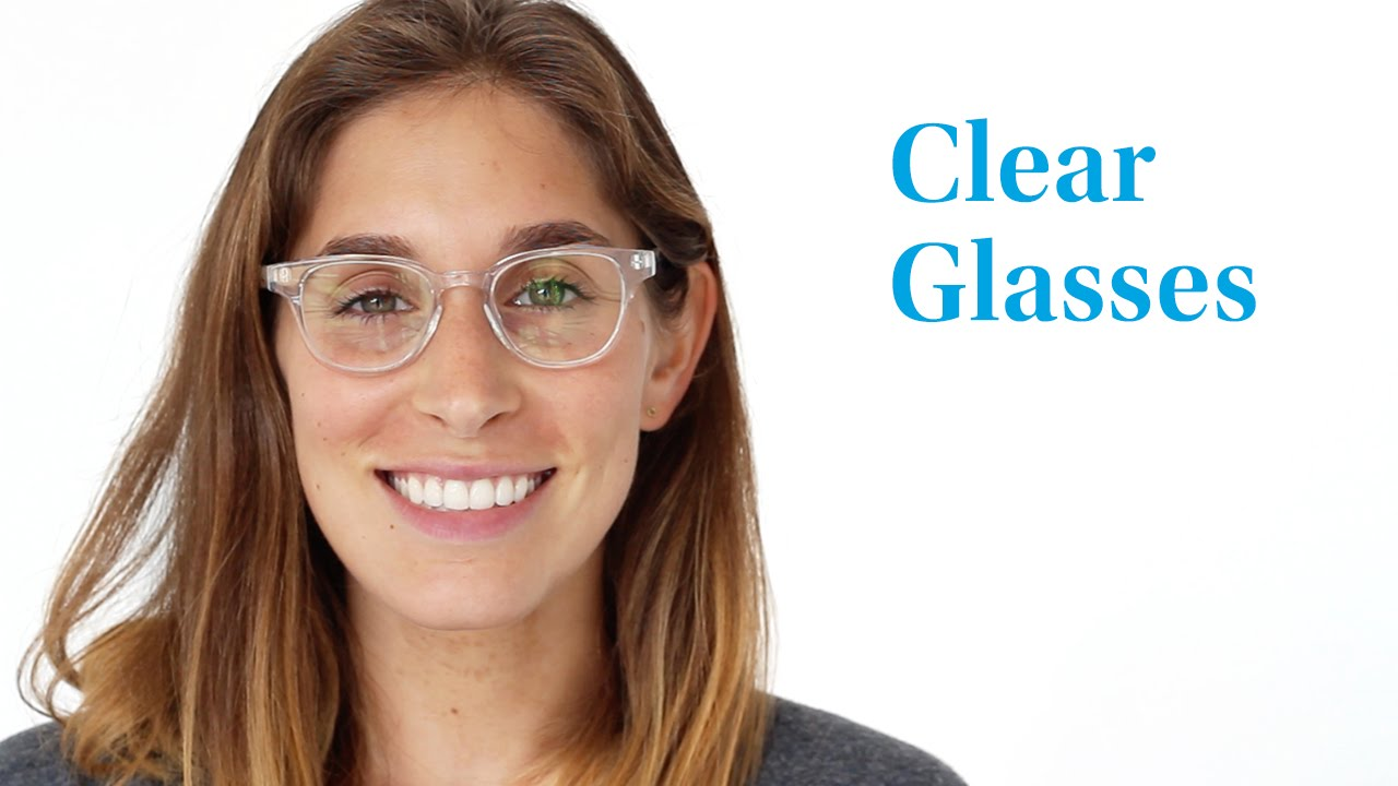 warby parker clear glasses