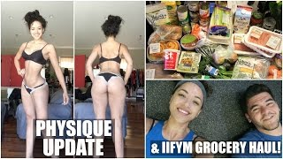 PHYSIQUE UPDATE, IIFYM GROCERY HAUL & Day in the Life (Kinda)  || Bikini Prep Series Ep. 16