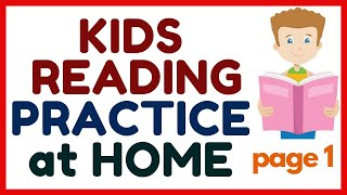 KIDS READING PRACTICE aт HOME ----- with name words and describing words ----Page 1