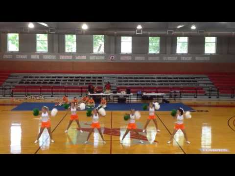 Hooper Academy Varsity Cheer Home Pom Warm up 2016