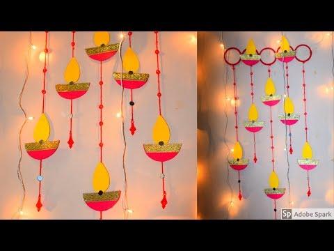 DIY PAPER DIYA WALL HANGING | easy diwali decor ideas | homedecor ideas | parulpawar