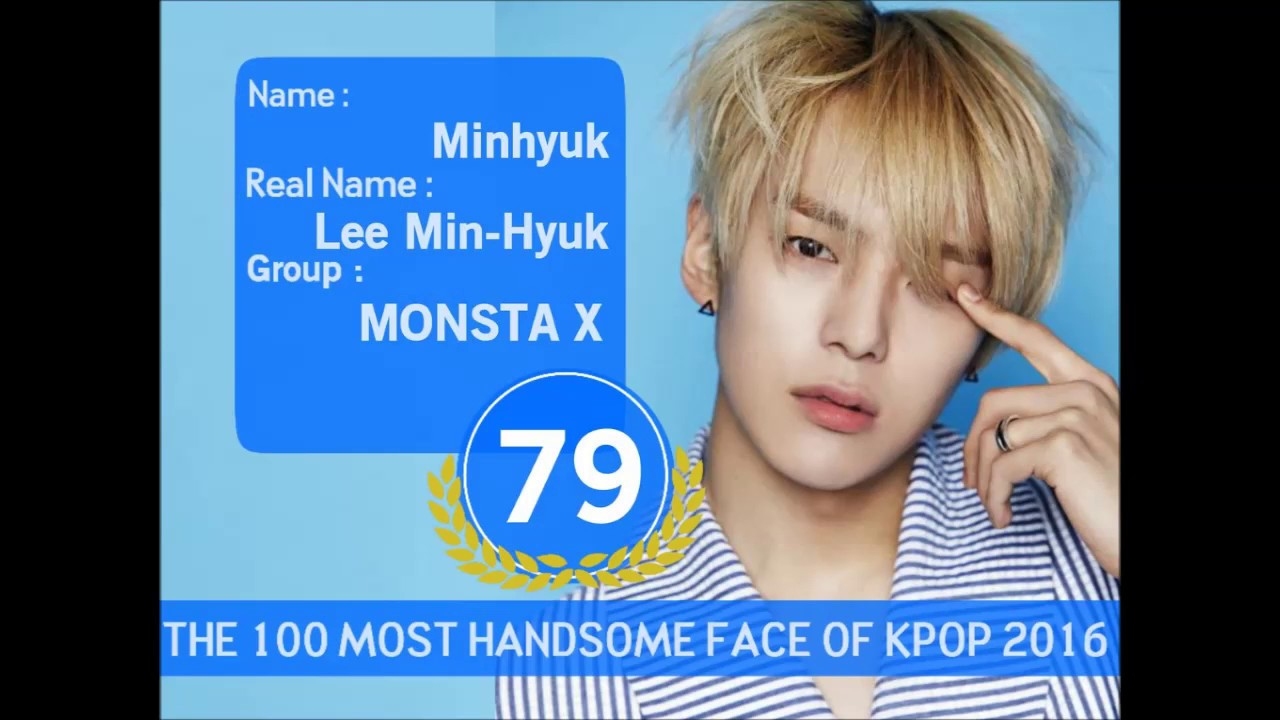 100 MOST HANDSOME FACE OF KPOP 2016