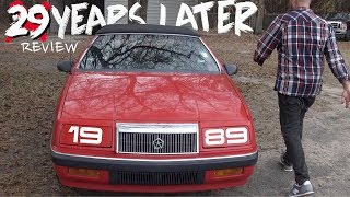 🔴 Here's a 29 Year Old Chrysler Lebaron Convertible - REVIEW & VLOG | Going back in Time to 1989!!!