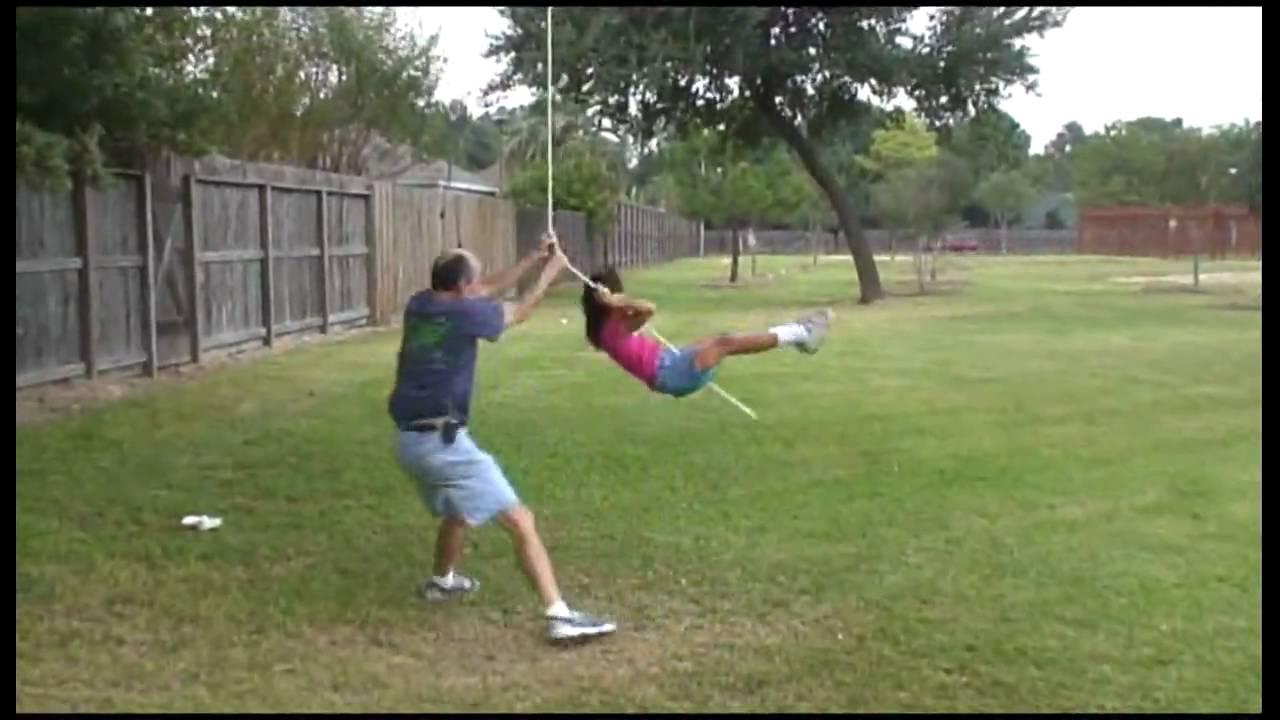 backyard tree swing youtube
