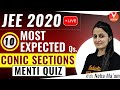 10 Most Expected Questions From Conic Sections with Menti Quiz | JEE Mains 2020 | Vedantu
