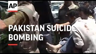 Suicide bombing kills 2 people in Pakistan
