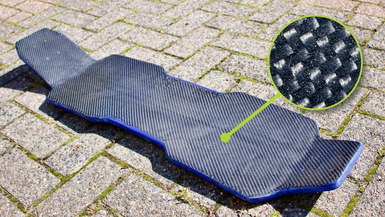 How to make a Carbon longboard deck - tank track skateboard