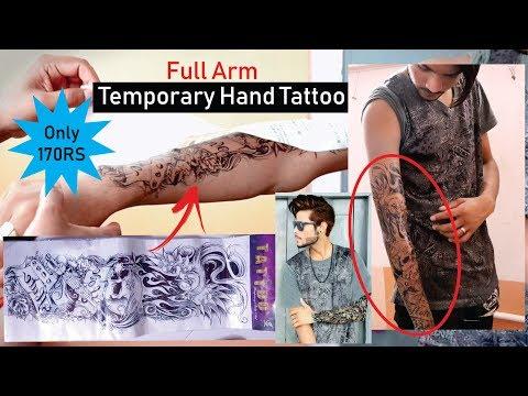 Full Arm Temporary Tattoo For Men And Women | Temporary Tattoo Sheet