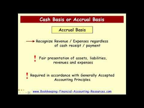 Cash Basis vs. Accrual Basis Accounting