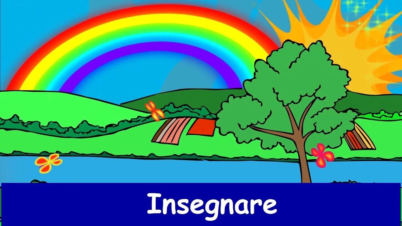 Canzone dei colori dell arcobaleno canzone per bambini - Immagine di terra a colori ...