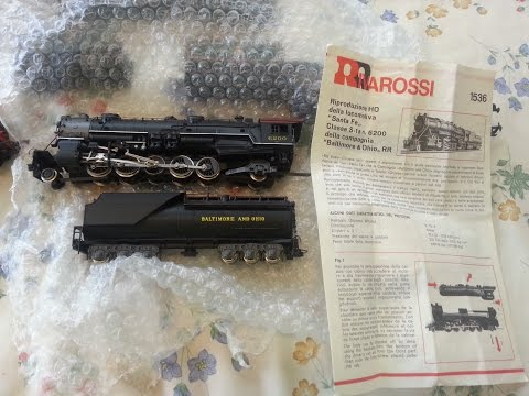 HO Model Railway Rivarossi 1536 Baltimore & Ohio 2-10-2 Locomotive