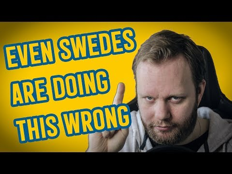 Swedish Words SWEDES spell wrong