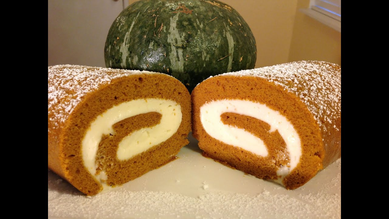Japanese Pumpkin Cake Recipe: How To Bake Pumpkin Roll Cake Recipes-Cream Cheese Filling