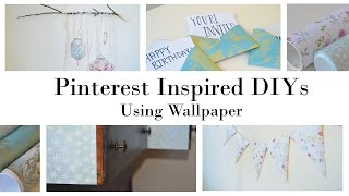 Pinterest Inspired Home Decor DIYs Using Wallpaper