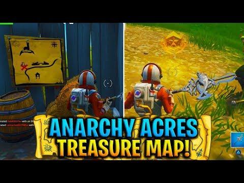 """Fortnite """"Follow the treasure map found in Anarchy Acres"""" WEEK 5 CHALLENGE! (Fortnite Treasure Map)"""