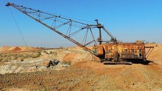 Walking excavator. Шагающий экскаватор  ЭШ 10-60 изнутри.