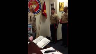Toblin Promotion to Gunnery Sergeant