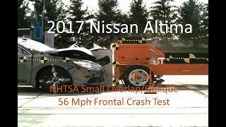 2017-2019 Nissan Altima NHTSA Oblique Overlap Frontal Crash Test (Test #1)