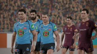 Rugby League Live 4 - Warriors Career - State of Origin Game 2