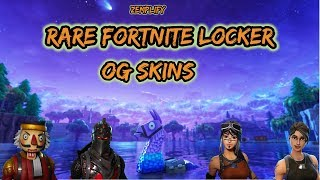 My Rare Fortnite Locker - OG Skins And Pickaxes (Black Knight , Raiders Revenge, Reaper)
